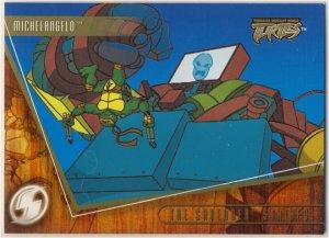TMNT Fleer Series 2 Trading Card - Gold Parallel #35 - The Shredder Strikes - Ninja Turtles