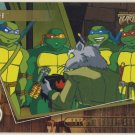 TMNT Fleer Series 2 Trading Card - Gold Parallel #44 - The Shredder Strikes - Ninja Turtles