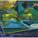 TMNT Fleer Series 2 Trading Card - Gold Parallel #56 - The Shredder Strikes - Ninja Turtles