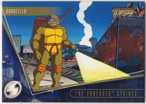 TMNT Fleer Series 2 Trading Card - Gold Parallel #64 - The Shredder Strikes - Ninja Turtles