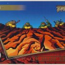 TMNT Fleer Series 2 Trading Card - Gold Parallel #65 - The Shredder Strikes - Ninja Turtles