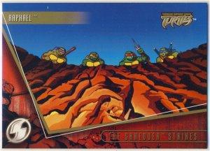 TMNT Fleer Series 2 Trading Card - Gold Parallel #65 - The Shredder Strikes - Ninja Turtles