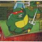 TMNT Fleer Series 2 Trading Card - Gold Parallel #71 - The Shredder Strikes - Ninja Turtles