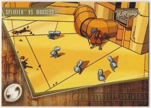 TMNT Fleer Series 2 Trading Card - Gold Parallel #82 - The Shredder Strikes - Ninja Turtles