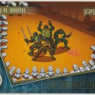 TMNT Fleer Series 2 Trading Card - Gold Parallel #84 - The Shredder Strikes - Ninja Turtles