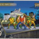 TMNT Fleer Series 2 Trading Card - Gold Parallel #88 - The Shredder Strikes - Ninja Turtles