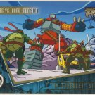 TMNT Fleer Series 2 Trading Card - Gold Parallel #89 - The Shredder Strikes - Ninja Turtles