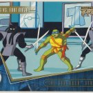 TMNT Fleer Series 2 Trading Card - Gold Parallel #91 - The Shredder Strikes - Ninja Turtles
