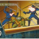 TMNT Fleer Series 2 Trading Card - Gold Parallel #93 - The Shredder Strikes - Ninja Turtles