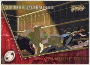 TMNT Fleer Series 2 Trading Card - Gold Parallel #94 - The Shredder Strikes - Ninja Turtles