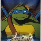 TMNT Fleer Series 1 Trading Card - Gold Parallel #14 - Leonardo - Ninja Turtles