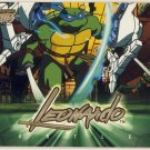 TMNT Fleer Series 1 Trading Card - Gold Parallel #57 - Leonardo - Ninja Turtles