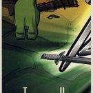 TMNT Fleer Series 1 Trading Card - Puzzle Card #120 - Leonardo - Ninja Turtles