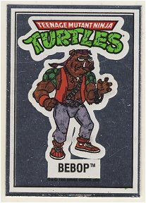 Bebop Vintage Foil Sticker - Ninja Turtles - TMNT