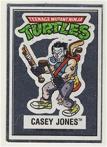 Casey Jones Vintage Foil Sticker - Ninja Turtles - TMNT