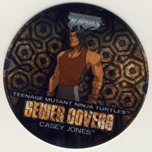 Casey Jones Sewer Covers - TMNT Fleer Series 1 Trading Card - Ninja Turtles