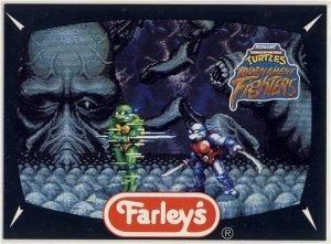 TMNT Tournament Fighters Trading Card #2 NES - Farley's Fruit Snacks - Ninja Turtles