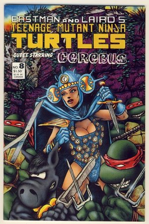 Teenage Mutant Ninja Turtles Vol. 1 #8 Comic Book - Cerebus - TMNT
