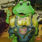 Candle Holders(Votive)-Frogs Painted Decorative Tin(Male)
