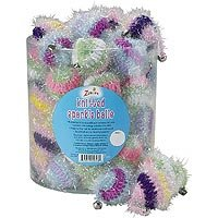 Zanies Knitted Sparkle Balls with Catnip 48 Per Canister