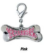 Aria Bejeweled Bone Charms Pink