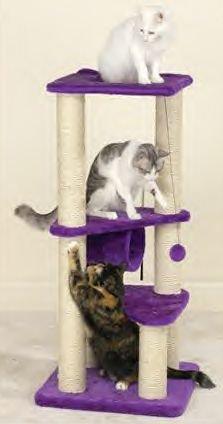 Meow Town Kitty Gyms Purple