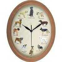 Pet Studio Oval Wall Clocks (Dog)