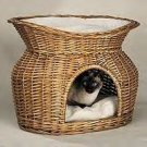 Meow Town Wicker Basket Bed