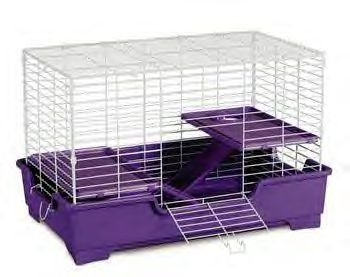 "3 Level Deluxe Ferret Home 32 X 20 X 21"" (white/lavender)"