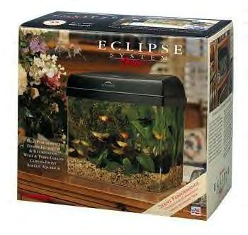 Eclipse System 3 3 Gallon Aquarium (black)