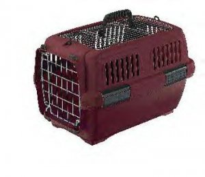 Aran 1 Clipper Pet Carrier Bge/wine 19 X 13 X 12