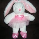 DanDee Collector's Choice White Bunny Rabbit Pink Ballerina Outfit