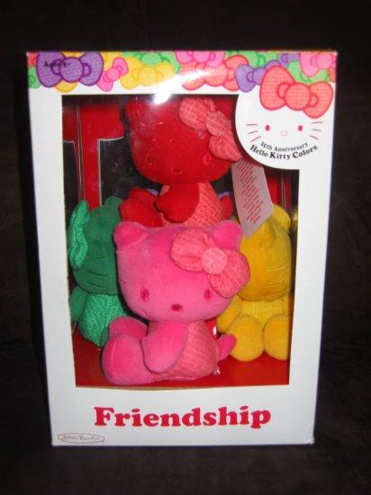35th Anniversary Hello Kitty Colors Beanie Plush Brand New