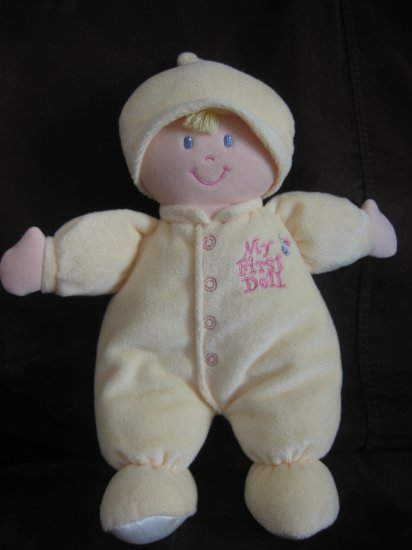 Animal Alley Soft Yellow My First Doll Crinkle Sound Sleeves