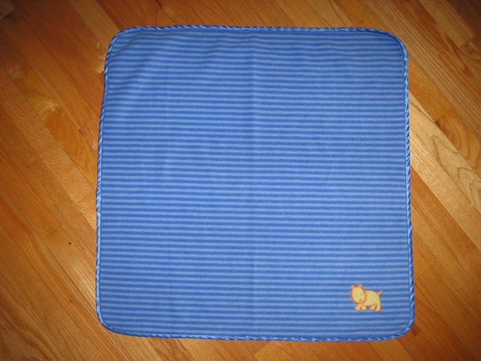 Carter's Child of Mine Blue Striped Lion Blanket 30X30