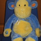 Carters Just One Year 14&quot; Blue Yellow Recording Monkey