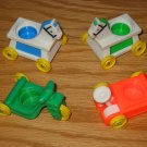 4 Vintage Fisher Price Little People Baby Ride on Toys