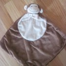 Angel Dear Plush Brown & Cream Monkey Baby Security Blanket