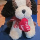 Best Made Toys Plush Valentines Puppy Dog Puppy Love Heart in Mouth