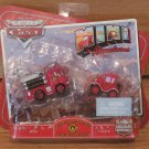 Disney Pixar Cars Mini Adventures Fire Dept Red & Lizzie