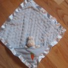 Baby Gund Buffy Blue Blankie Minky Dot Bunny Rabbit Lovey with Carrot #36276