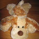 "Aurora Flopsie Plush Cream & Brown Puppy Dog Floppy 14"" Laying Position"