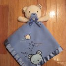 Carters Classics All About A Bear Blue Teddy Bear Security Blanket Hug A Bear Huggable Cuddly