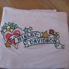 Pink Harley Davidson Baby Blanket with Hearts & Flowers