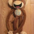 Limited Too Plush Brown Monkey with Blue Flower Tummy