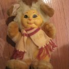 1985 Animal Toy Storybook Friends Plush Dog Cat with Scarf