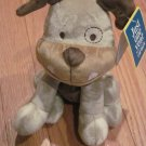 Carters Just One Year Plush Bulldog Tan Beige Puppy Dog Orange Collar 99981