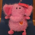 Hallmark Licensing Love Pals Pink Plush Elephant with Heart Ears Stringy Thread Body