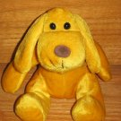 "Kellytoy 7.5"" Gold Plush Puppy Dog Shiny Sparkle Fur Walmart Kelly toy"