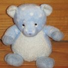 Russ Berrie Polka Dottsies Blue & White Dot Plush Teddy Bear Rattle